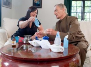 Me with Dr David Lewis discussing Neti Pots