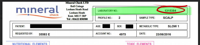 How to find your lab number